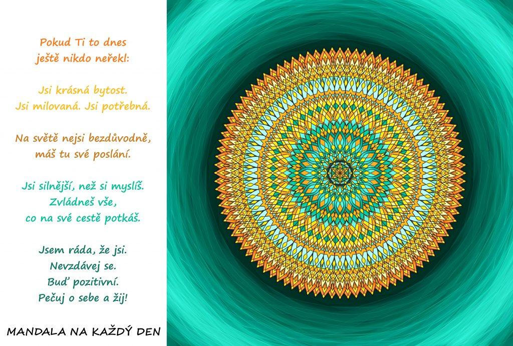 Mandala Pečuj o sebe a žij naplno