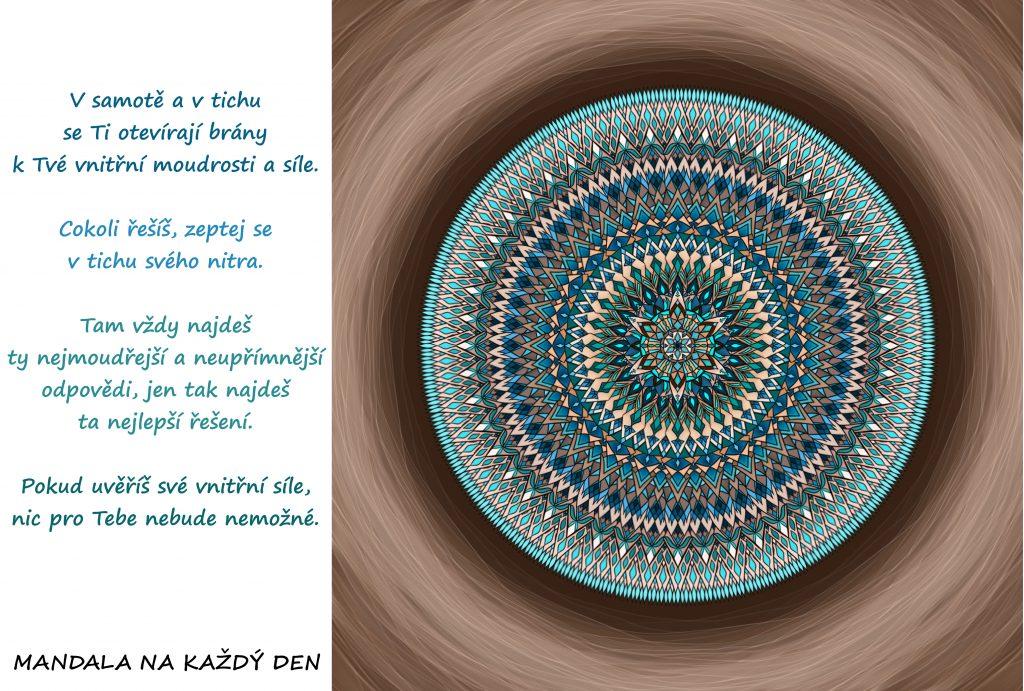 Mandala Projdi tichem ke své moudrosti a síle
