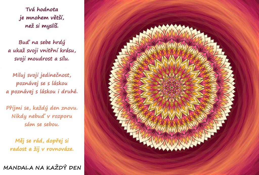Mandala Žij v rovnováze