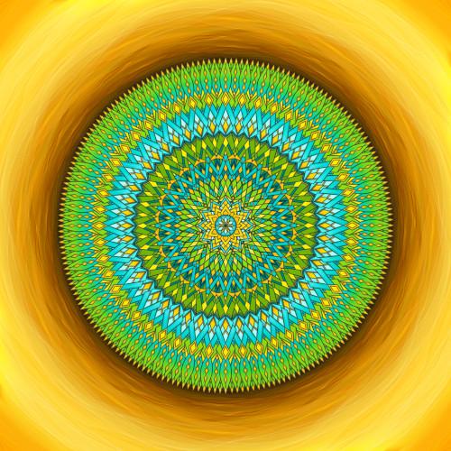 Mandala Využij svůj čas moudře