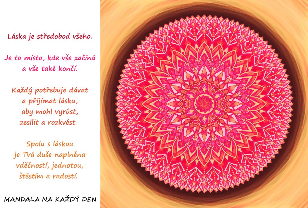 Mandala Naplň svoji duši, tělo i mysl láskou