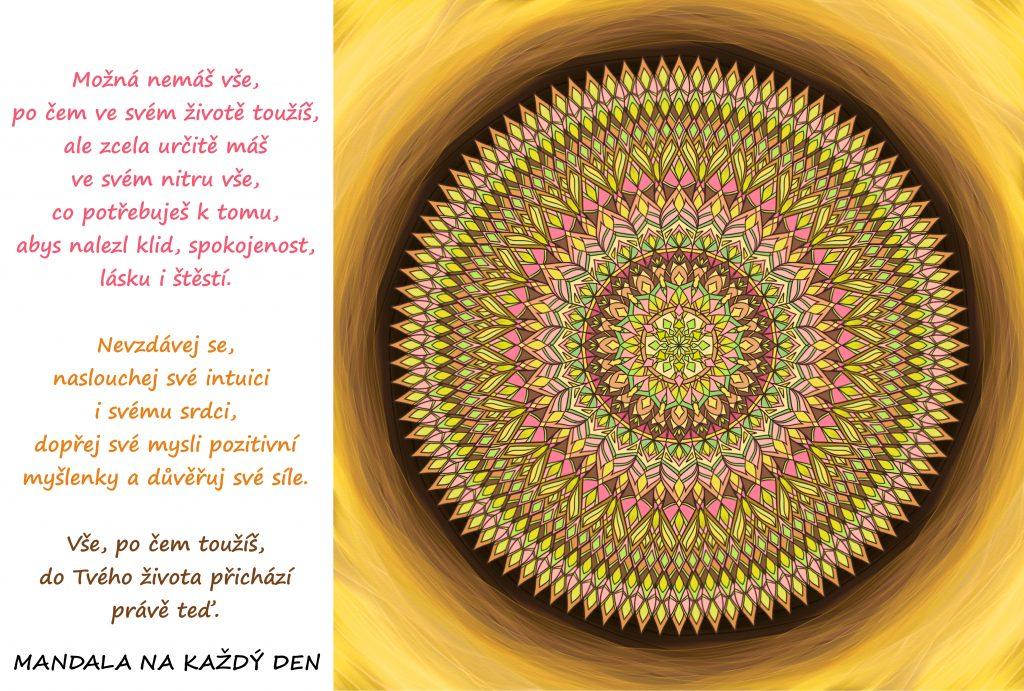 Mandala Nevzdávej se a důvěřuj své síle