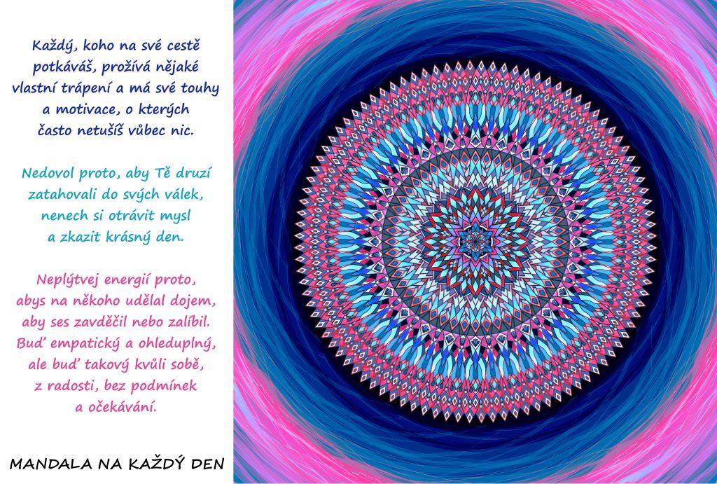 Mandala Buď laskavý, z radosti, bez podmínek