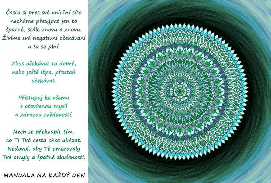 Mandala Žij s otevřenou myslí a zdravou zvědavostí
