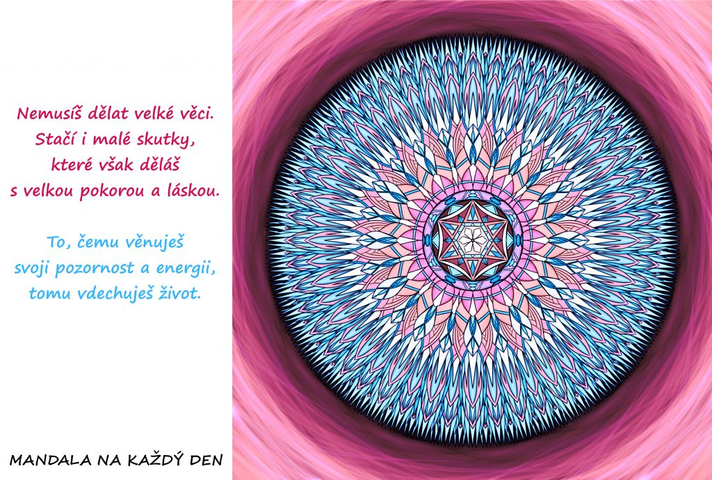 Mandala Nauč se používat svoji energii a pozornost