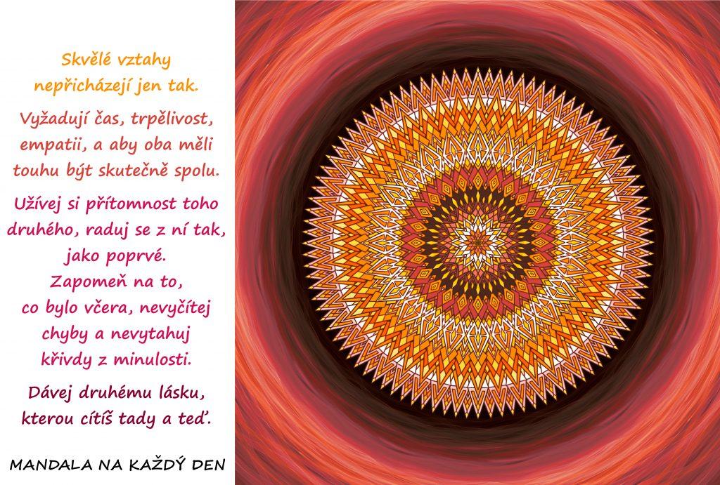 Mandala Pečuj o své vztahy s láskou