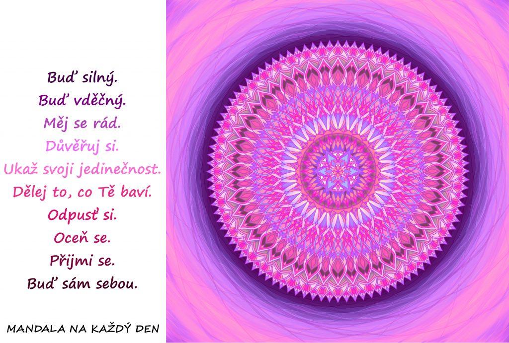 Mandala Buď silný a sám sebou