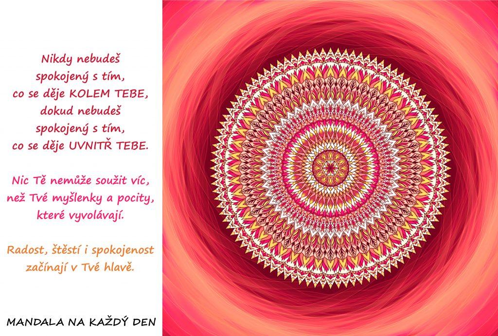 Mandala Najdi v sobě radost, štěstí a spokojenost