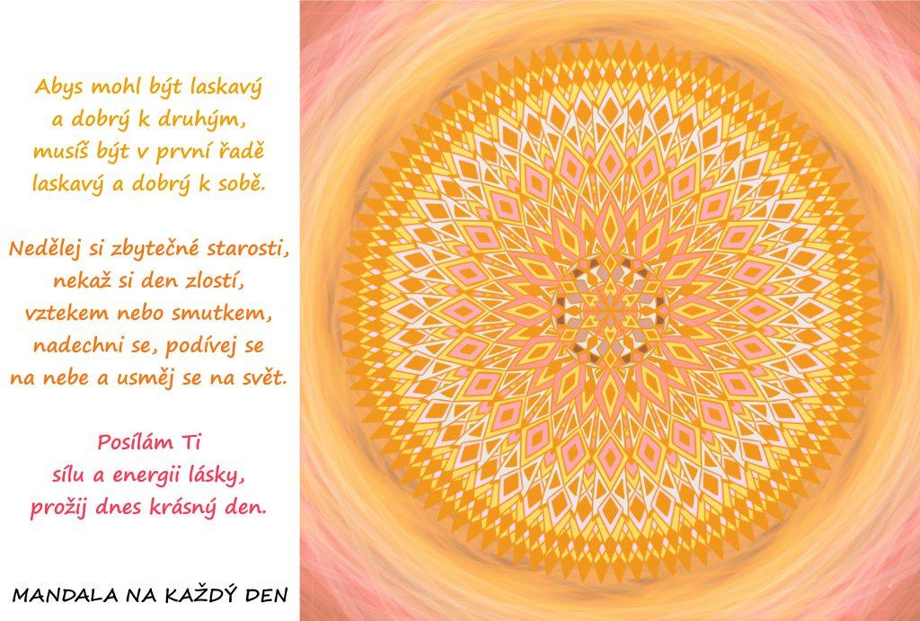 Mandala Nauč se být k sobě laskavý a dobrý