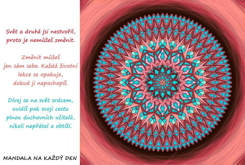 Mandala Dívej se na svoji životní cestu srdcem