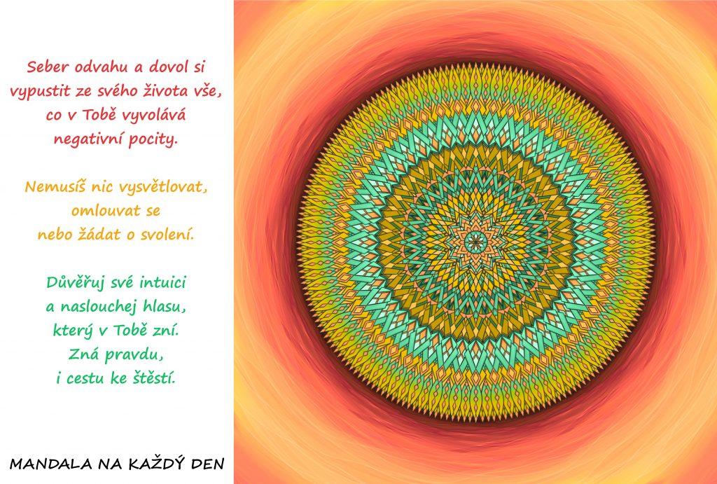 Mandala Důvěřuj své intuici na cestě za štěstím