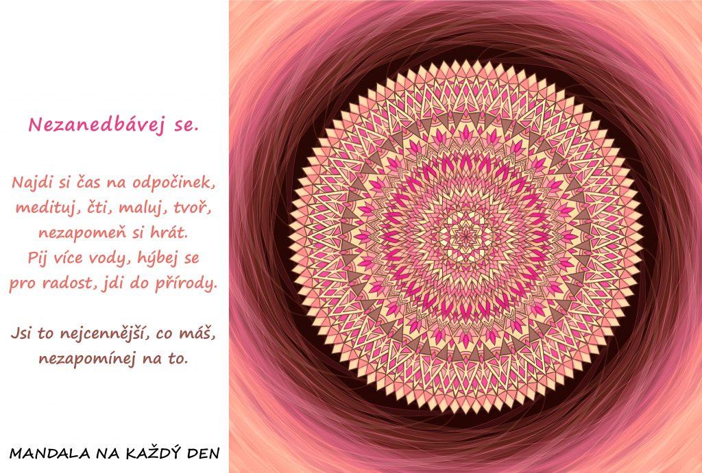 Mandala Nezanedbávej se a najdi si na sebe čas