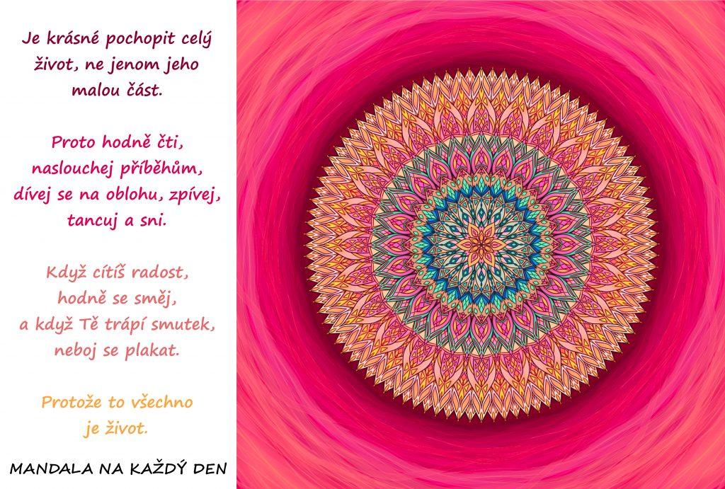 Mandala Užívej si všechny krásy života