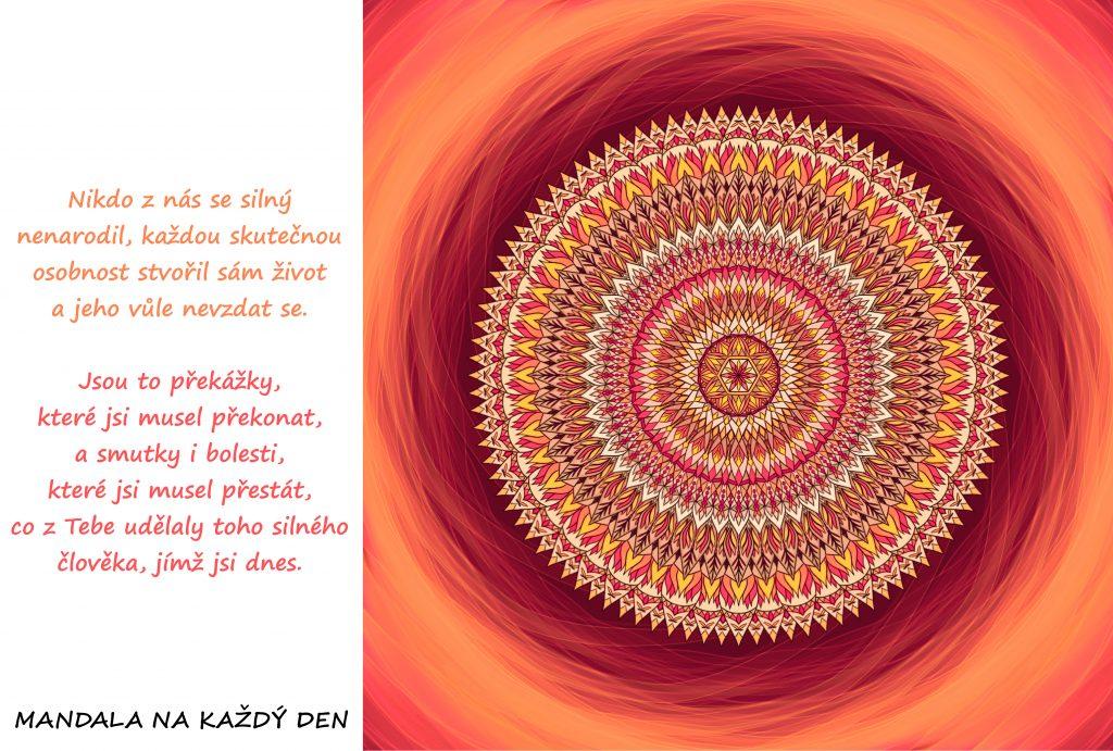 Mandala Vnitřní síla a vůle nevzdat se