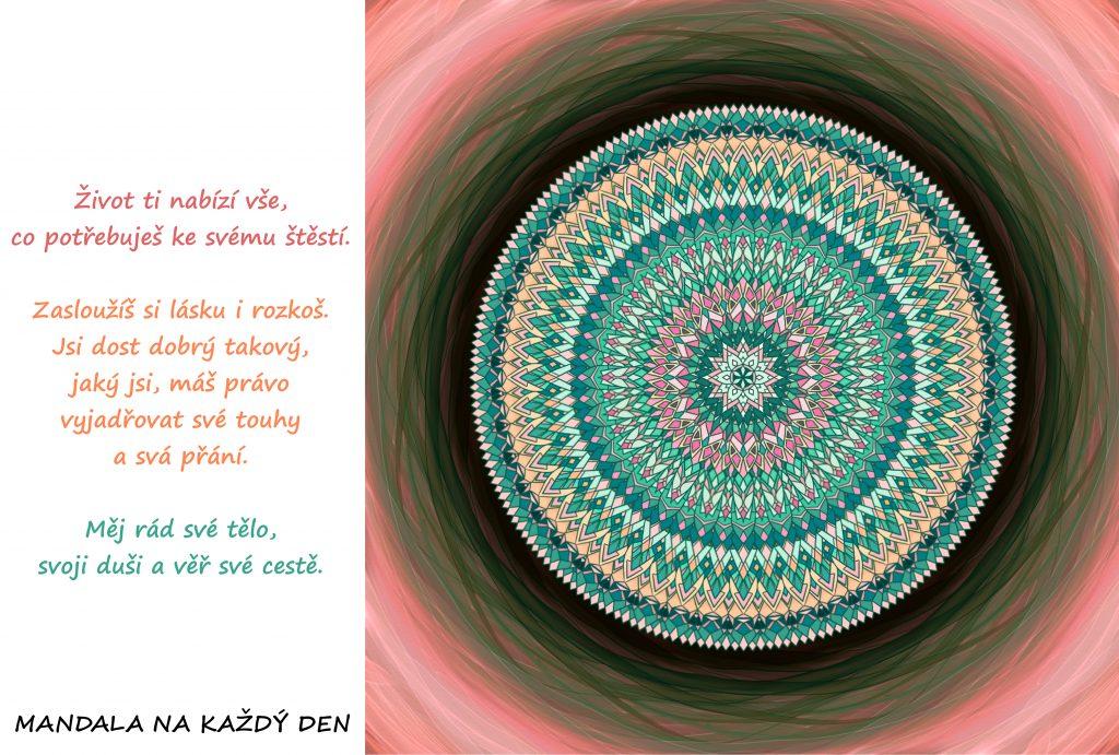 Mandala Měj se rád a důvěřuj své cestě