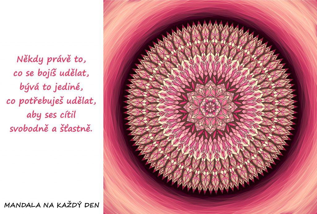 Mandala Zahoď svůj strach