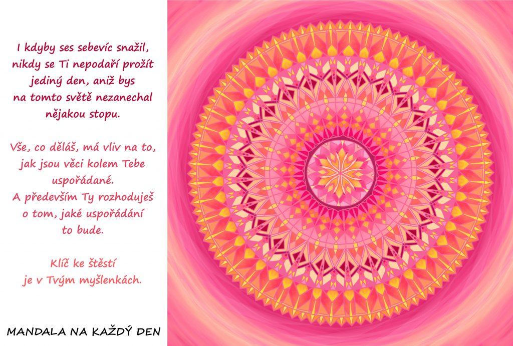 Mandala Klíč ke štěstí najdeš ve svých myšlenkách