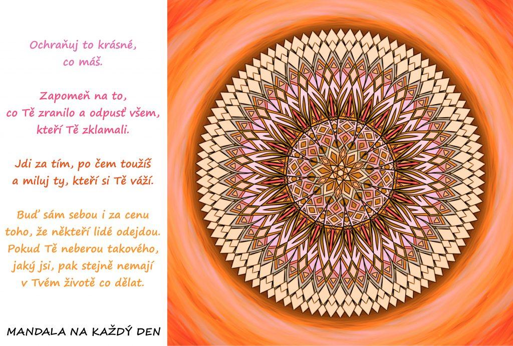 Mandala Buď sám sebou a ochraňuj to krásné, co máš