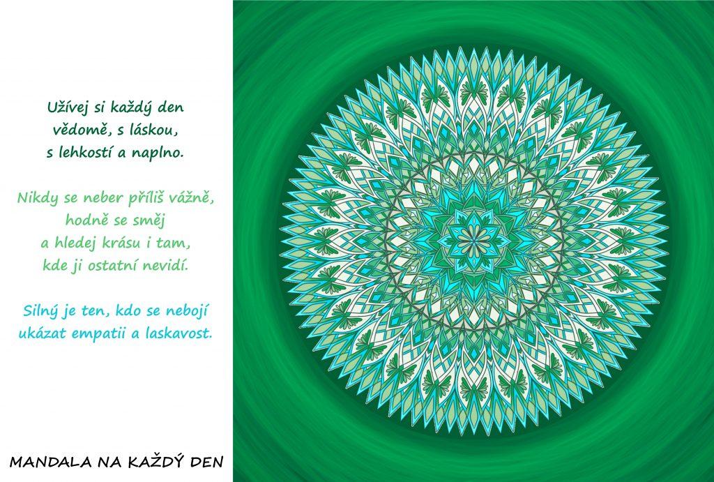 Mandala Užívej si každý den vědomě a naplno