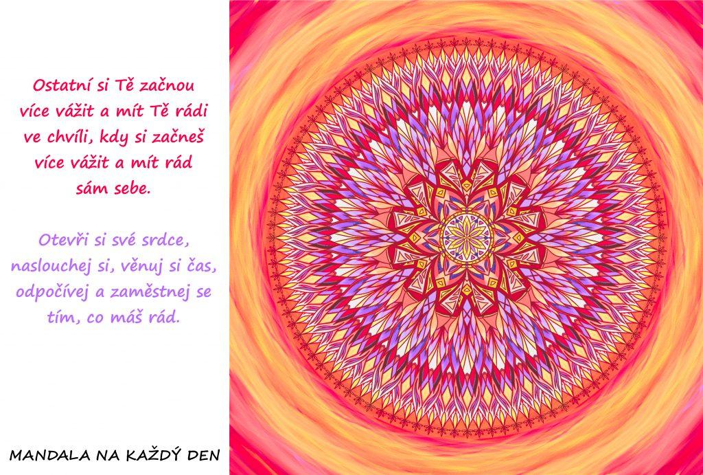 Mandala Začni si více vážit sám sebe