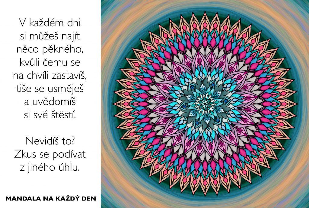 Mandala Nauč se uvědomovat si své štěstí