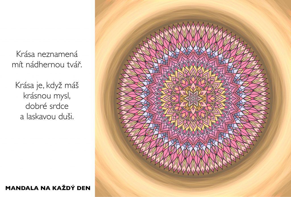 Mandala Skutečná krása se ukrývá uvnitř