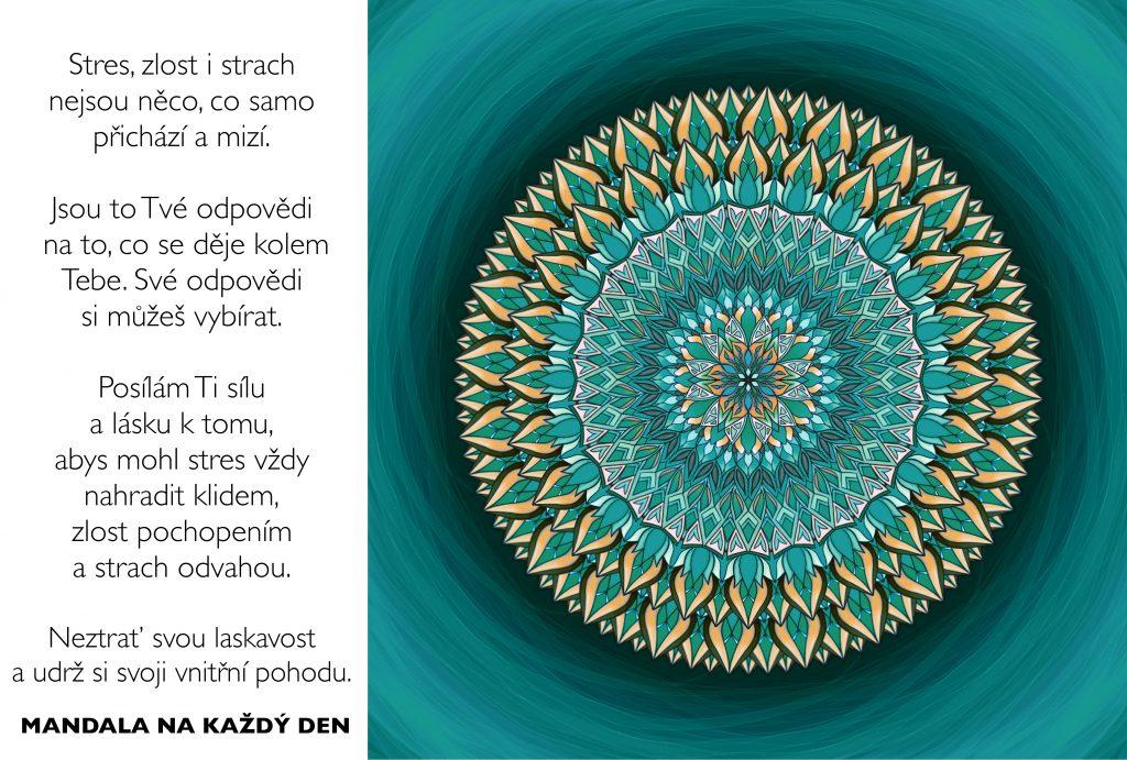 Mandala Neztrácej svoji laskavost a vnitřní pohodu