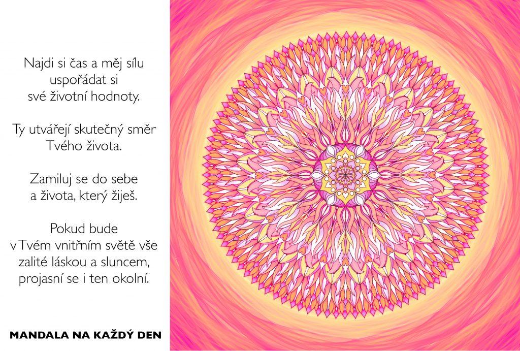 Mandala Uspořádej si hodnoty a zamiluj si život, který žiješ
