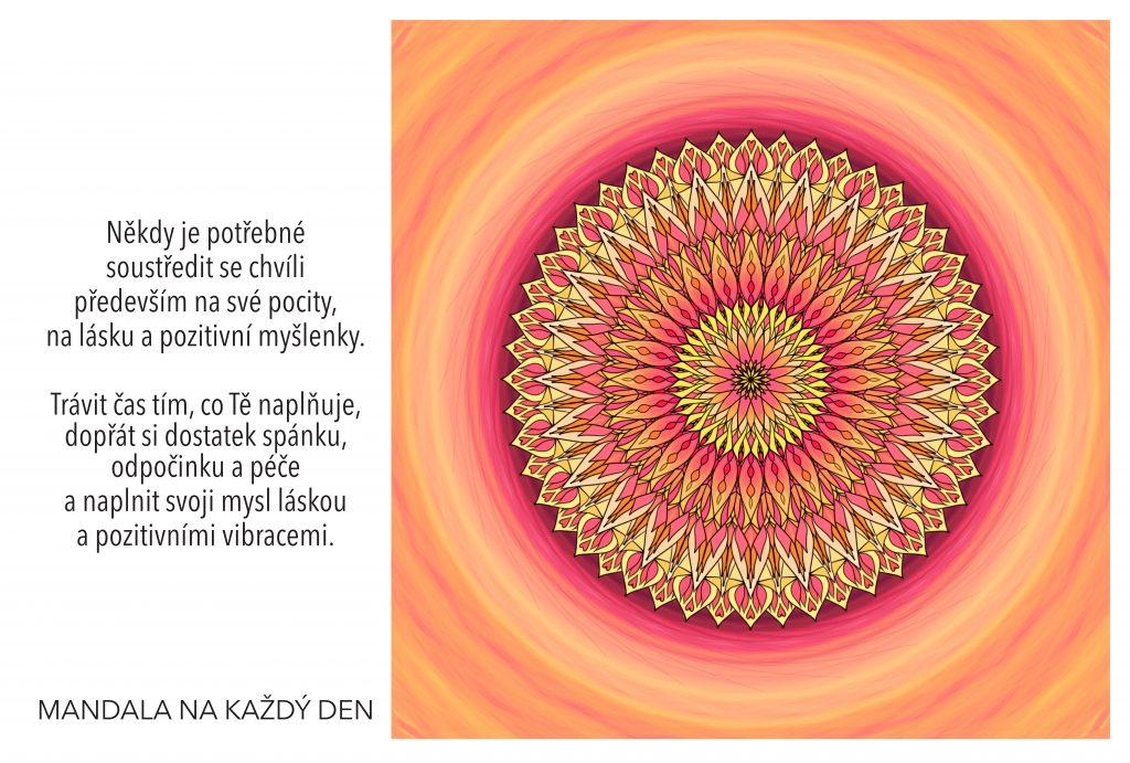 Mandala Naplň svoji mysl láskou a pozitivními vibracemi