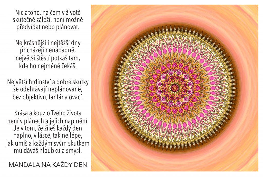 Mandala Najdi smysl, krásu a kouzlo života
