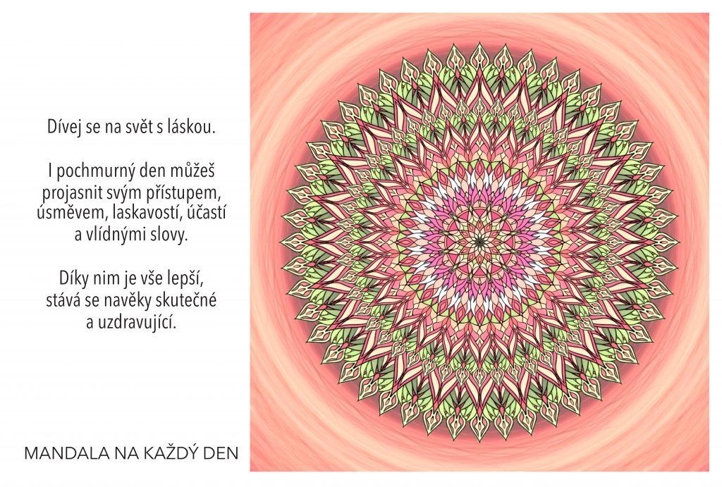 Mandala Dívej se na svět kolem s láskou