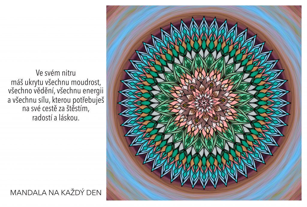 Mandala Moudrost, vědění, energie a síla v Tvém nitru
