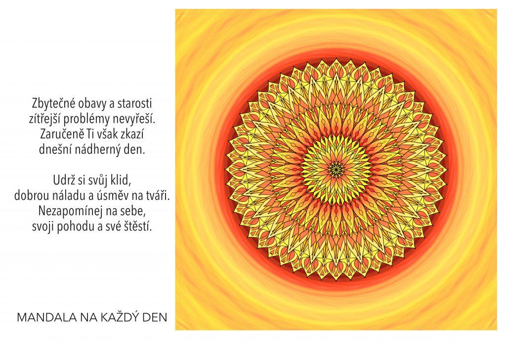 Mandala Udrž si svůj klid a dobrou náladu