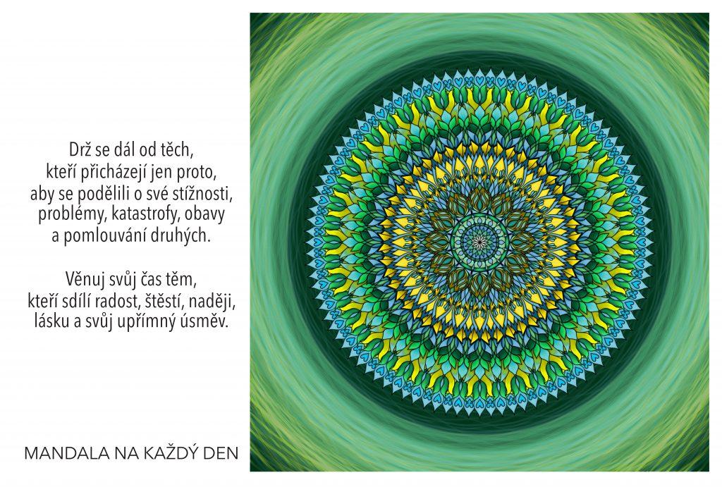 Mandala Vybírej moudře, komu věnuješ čas