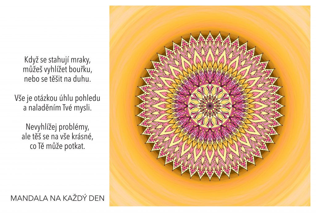 Mandala Nalaď svoji mysl pozitivně