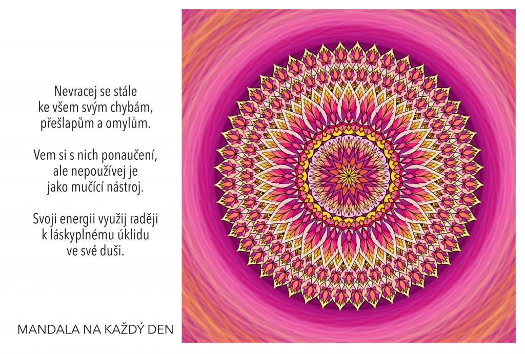Mandala Chovej se k sobě s láskou