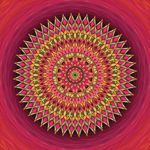 Mandala Prožívej naplno každý den