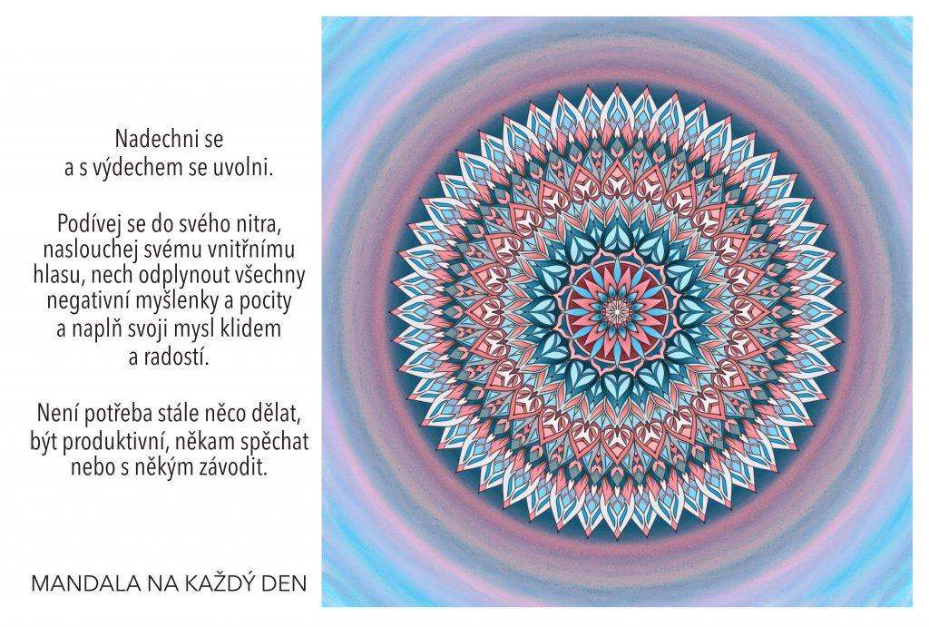 Mandala Naplň svoji mysl klidem a radostí