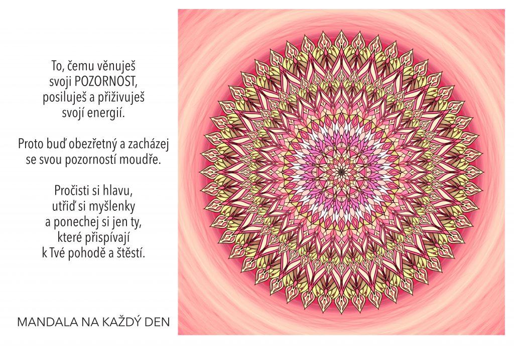 Mandala Zacházej moudře se svojí pozorností