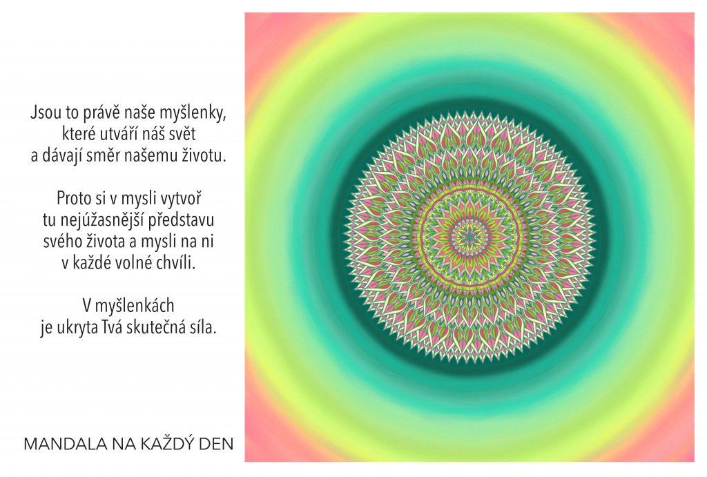 Mandala V myšlenkách je ukryta Tvá síla