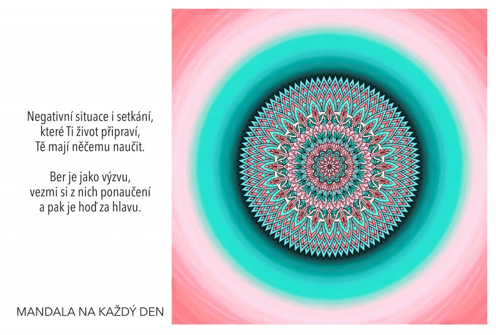 Mandala Vezmi si ponaučení a posuň se dál