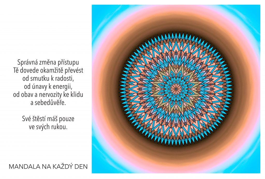 Mandala Nauč se změnit svůj přístup