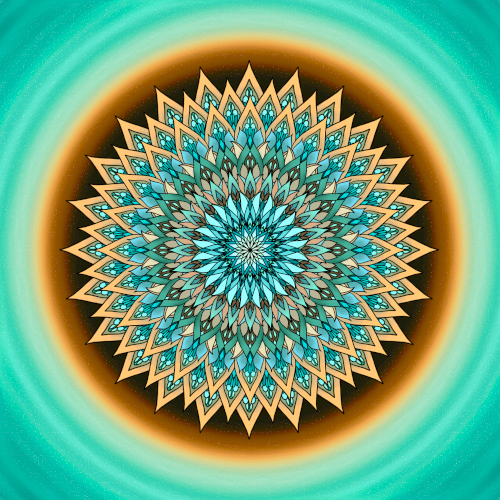 Mandala Buď laskavý a nevzdávej se svých snů