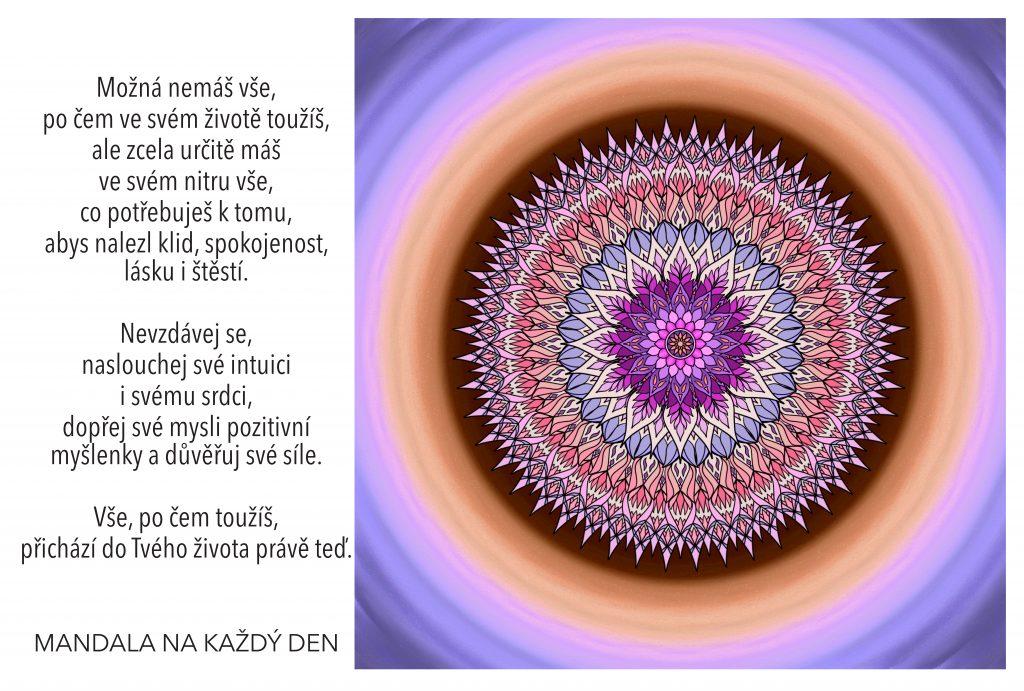 Mandala Najdi klid, spokojenost, lásku i štěstí