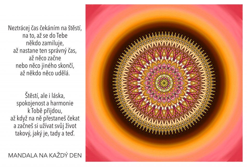 Mandala Štěstí, láska, spokojenost a harmonie
