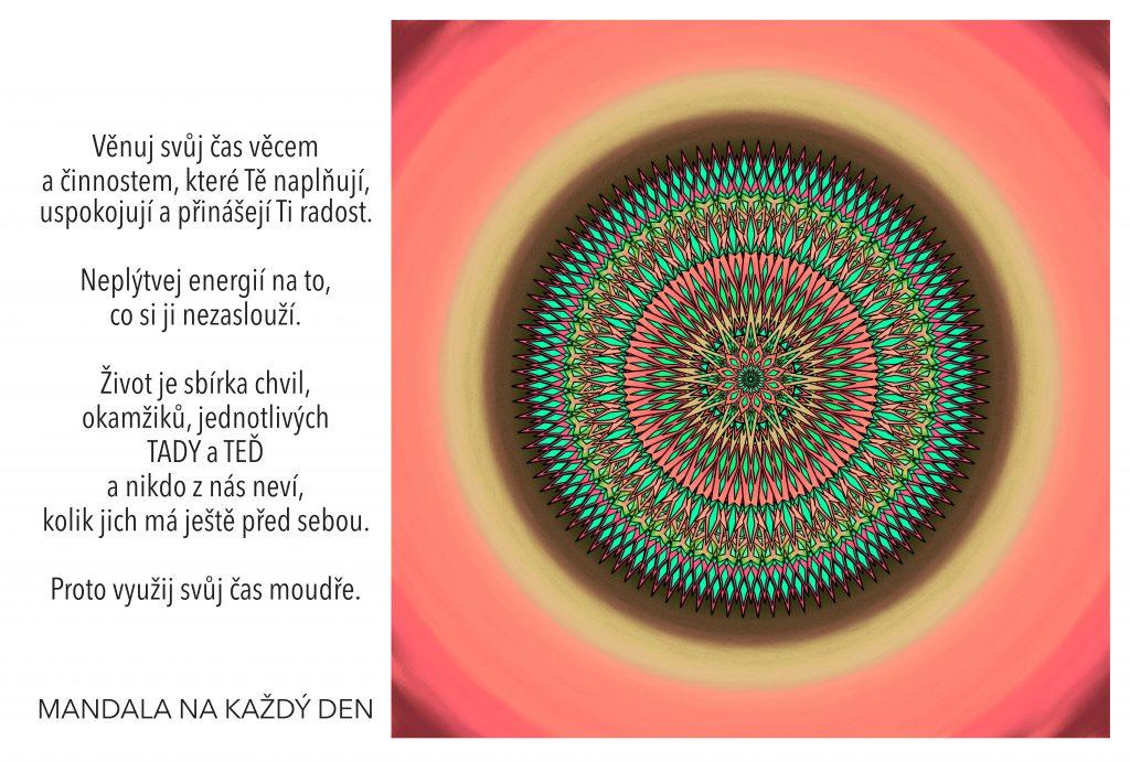 Mandala Nech se naplnit radostí a štěstím