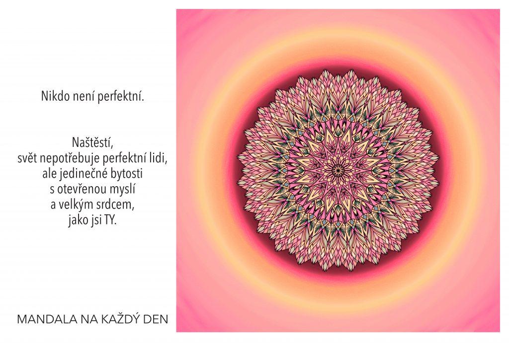 Mandala Jedinečnost, otevřená mysl a velké srdce