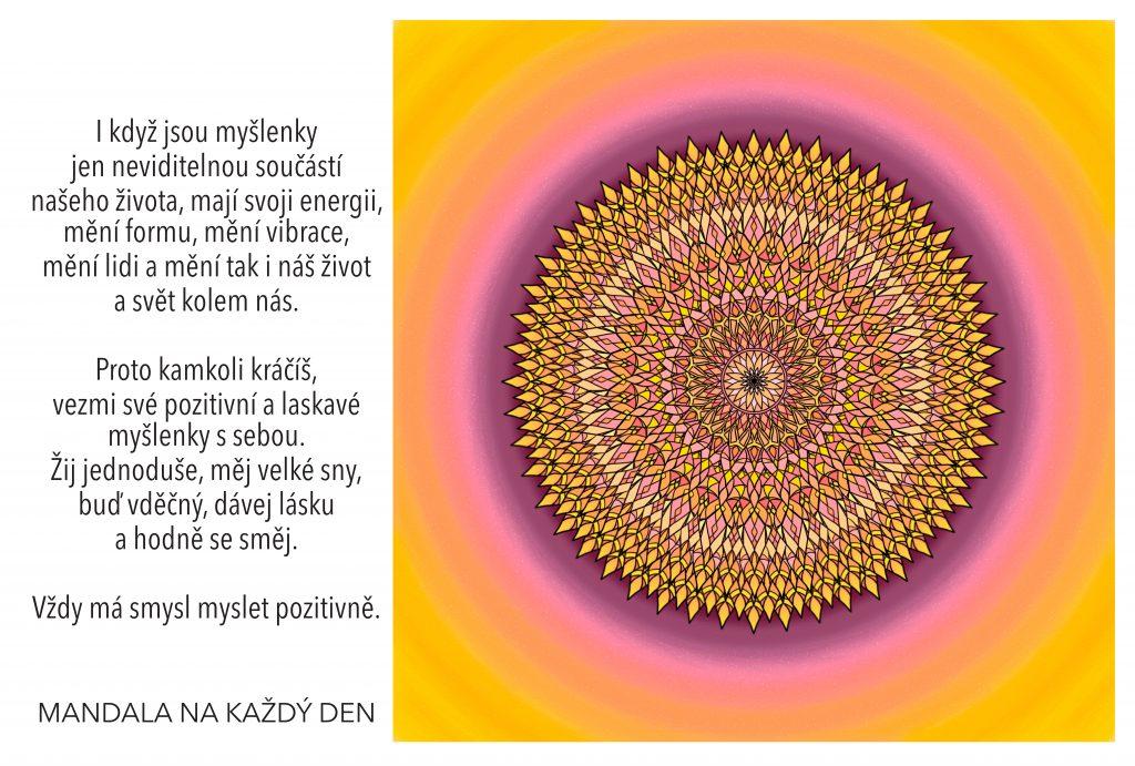 Mandala Dej prostor pozitivním myšlenkám