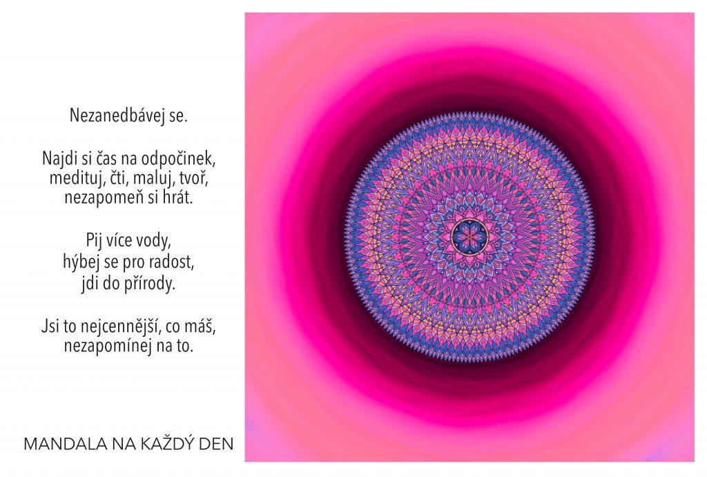 Mandala Najdi si čas na sebe a svůj odpočinek