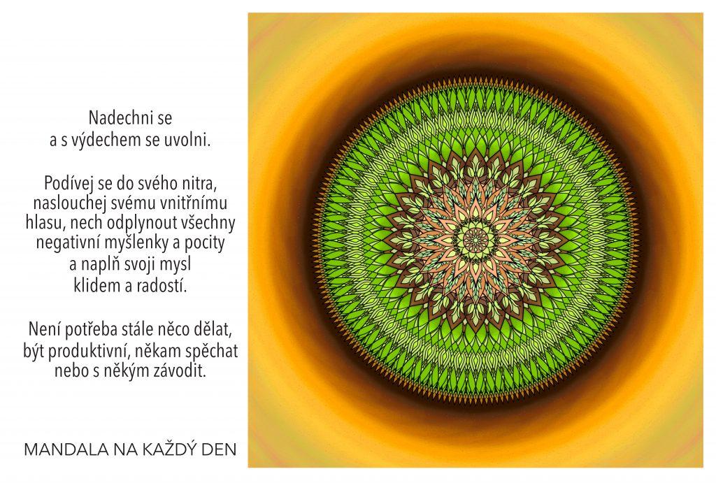 Mandala Mysl naplněná klidem a radostí